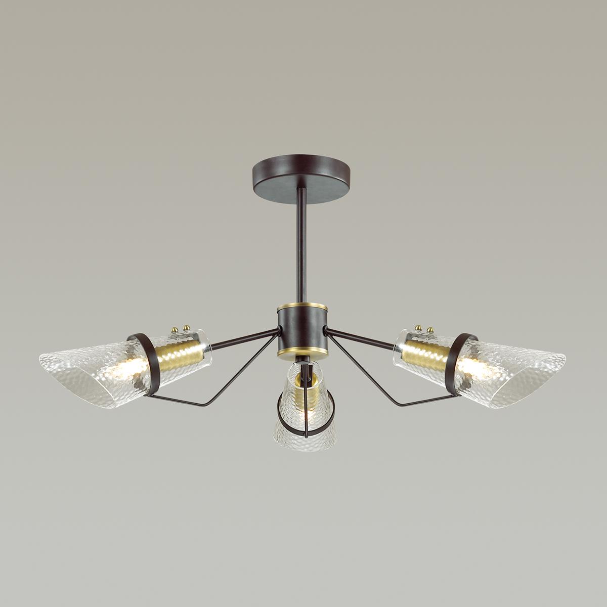 Потолочная люстра Lumion Morgana 4404/3C, коричневый, прозрачный, металл, стекло - фото 3