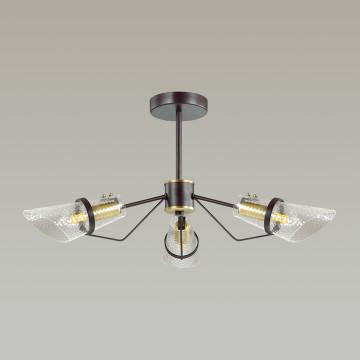 Потолочная люстра Lumion Morgana 4404/3C, коричневый, прозрачный, металл, стекло - миниатюра 4