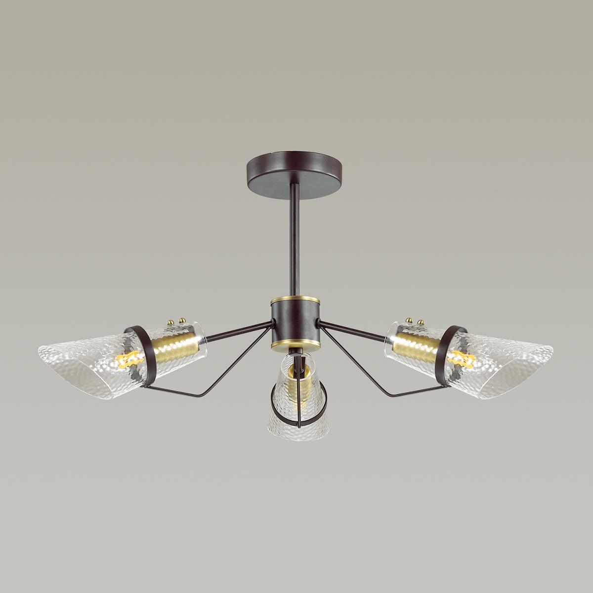 Потолочная люстра Lumion Morgana 4404/3C, коричневый, прозрачный, металл, стекло - фото 4