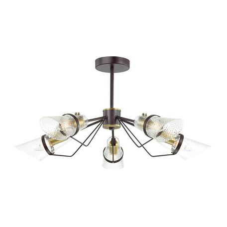 Потолочная люстра Lumion Morgana 4404/5C, коричневый, прозрачный, металл, стекло