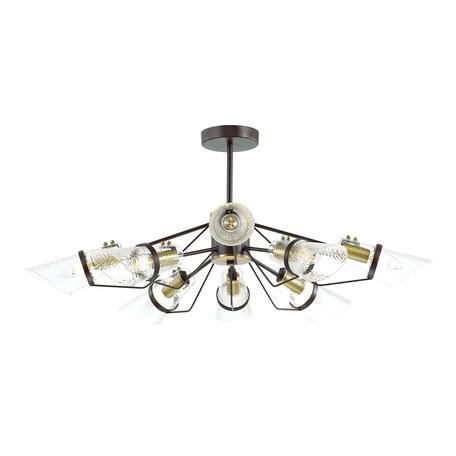 Потолочная люстра Lumion Morgana 4404/8C, коричневый, прозрачный, металл, стекло