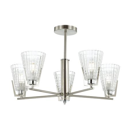 Потолочная люстра Lumion Janna 4409/5C, никель, прозрачный, металл, стекло
