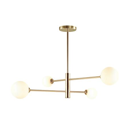 Потолочная люстра Lumion Moderni Estelle 4418/4C, 4xG9x40W, золото, белый, металл, стекло