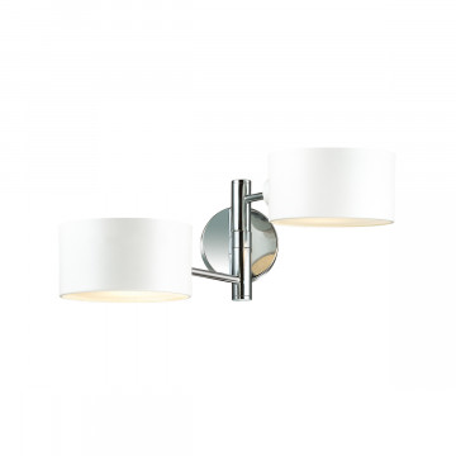 Бра Lumion Moderni Ashley 3742/2W, 2xE27x60W, хром, белый, металл