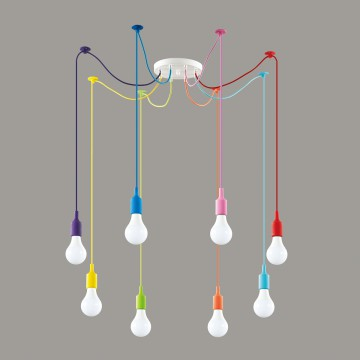 Люстра-паук Lumion Lotte 3719/8, 8xE27x60W, разноцветный, металл, пластик - миниатюра 4