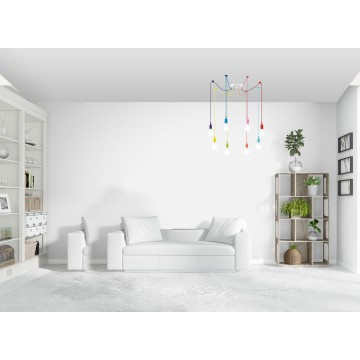 Люстра-паук Lumion Lotte 3719/8, 8xE27x60W, разноцветный, металл, пластик - миниатюра 5