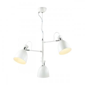 Подвесная люстра с регулировкой направления света Lumion Kizzy 3734/3, 3xE27x60W, белый, хром, металл