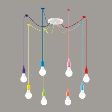 Люстра-паук Lumion Lotte 3719/8, 8xE27x60W, разноцветный - миниатюра 3