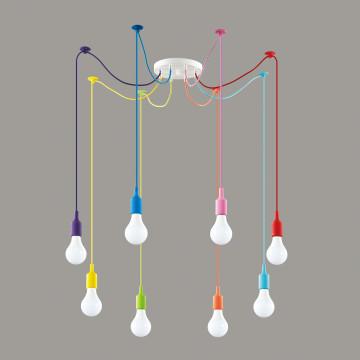 Люстра-паук Lumion Lotte 3719/8, 8xE27x60W, разноцветный - миниатюра 4