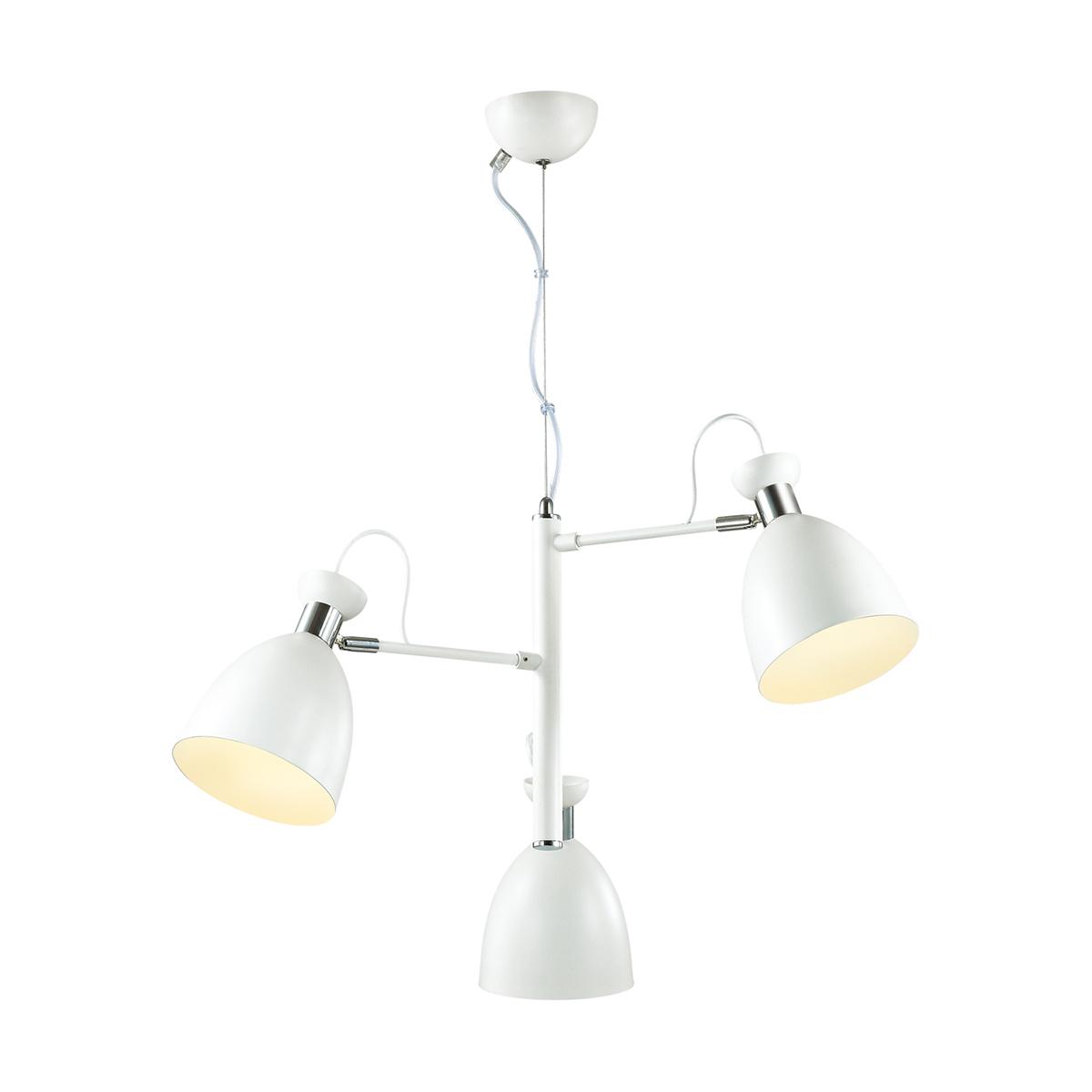 Подвесная люстра с регулировкой направления света Lumion Kizzy 3734/3, 3xE27x60W, белый, хром, металл - фото 1