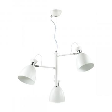 Подвесная люстра с регулировкой направления света Lumion Kizzy 3734/3, 3xE27x60W, белый, хром, металл - миниатюра 2