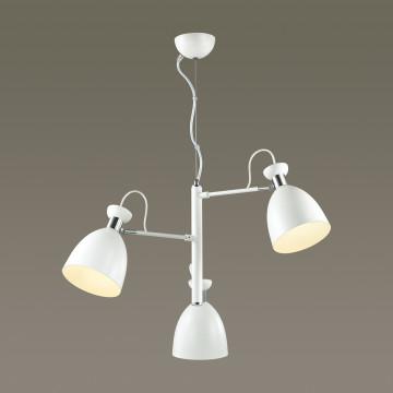 Подвесная люстра с регулировкой направления света Lumion Kizzy 3734/3, 3xE27x60W, белый, хром, металл - миниатюра 3