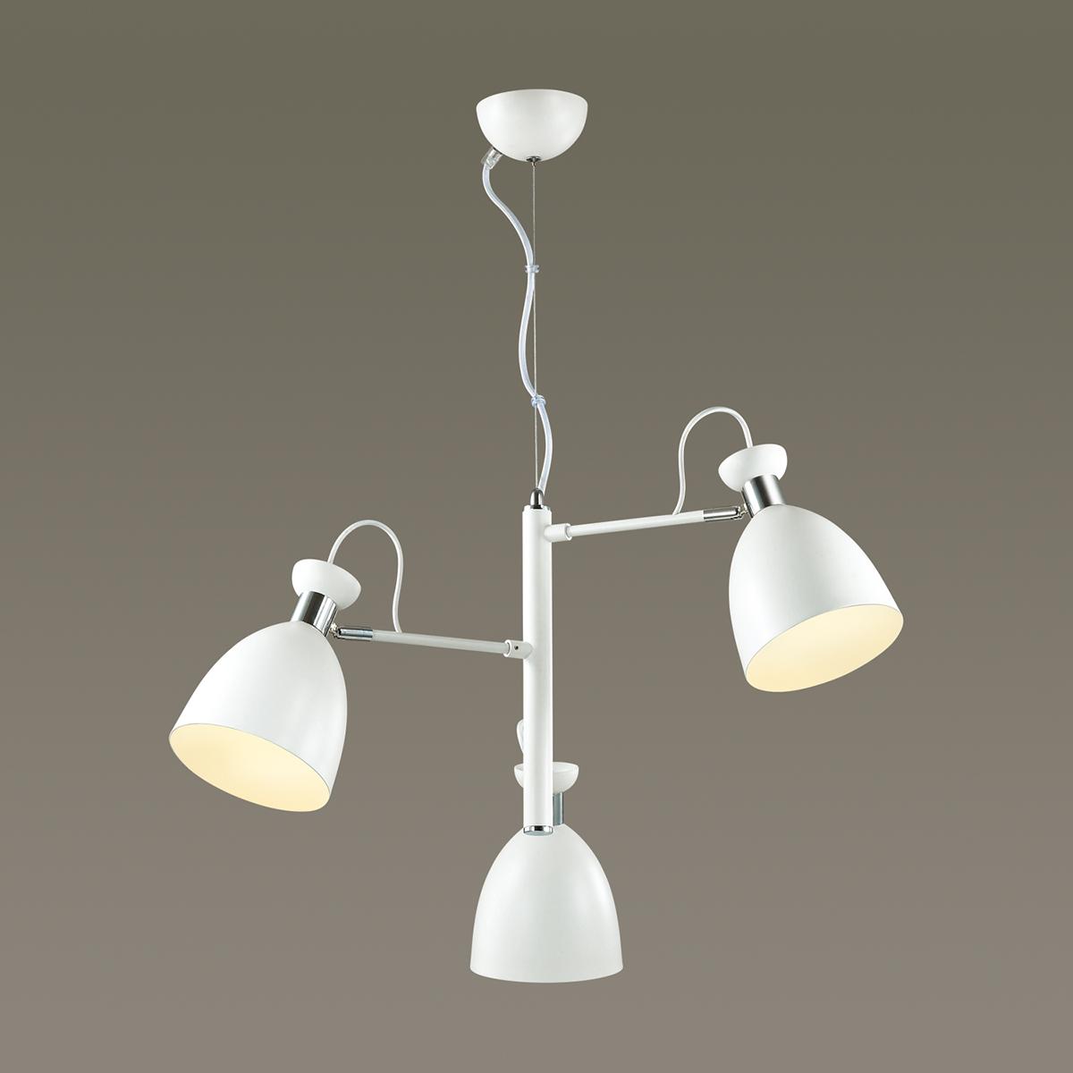 Подвесная люстра с регулировкой направления света Lumion Kizzy 3734/3, 3xE27x60W, белый, хром, металл - фото 3