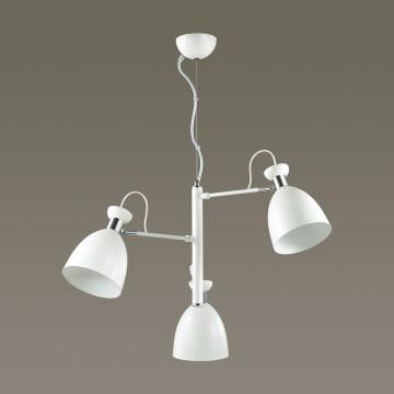 Подвесная люстра с регулировкой направления света Lumion Kizzy 3734/3, 3xE27x60W, белый, хром, металл - миниатюра 4