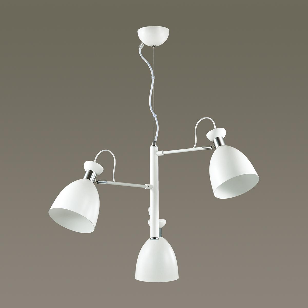 Подвесная люстра с регулировкой направления света Lumion Kizzy 3734/3, 3xE27x60W, белый, хром, металл - фото 4