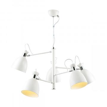 Подвесная люстра с регулировкой направления света Lumion Kizzy 3734/5, 5xE27x60W, белый, хром, металл