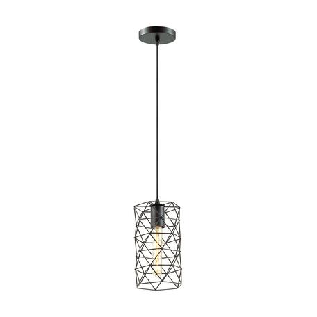 Подвесной светильник Lumion Suspentioni Olaf 3729/1, 1xE27x60W, черный, металл