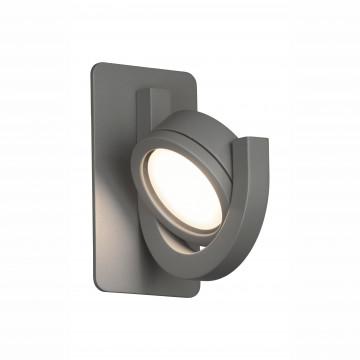 Настенный светильник с регулировкой направления света Mantra Iguazu 6558, IP54, серый, металл, стекло - миниатюра 2