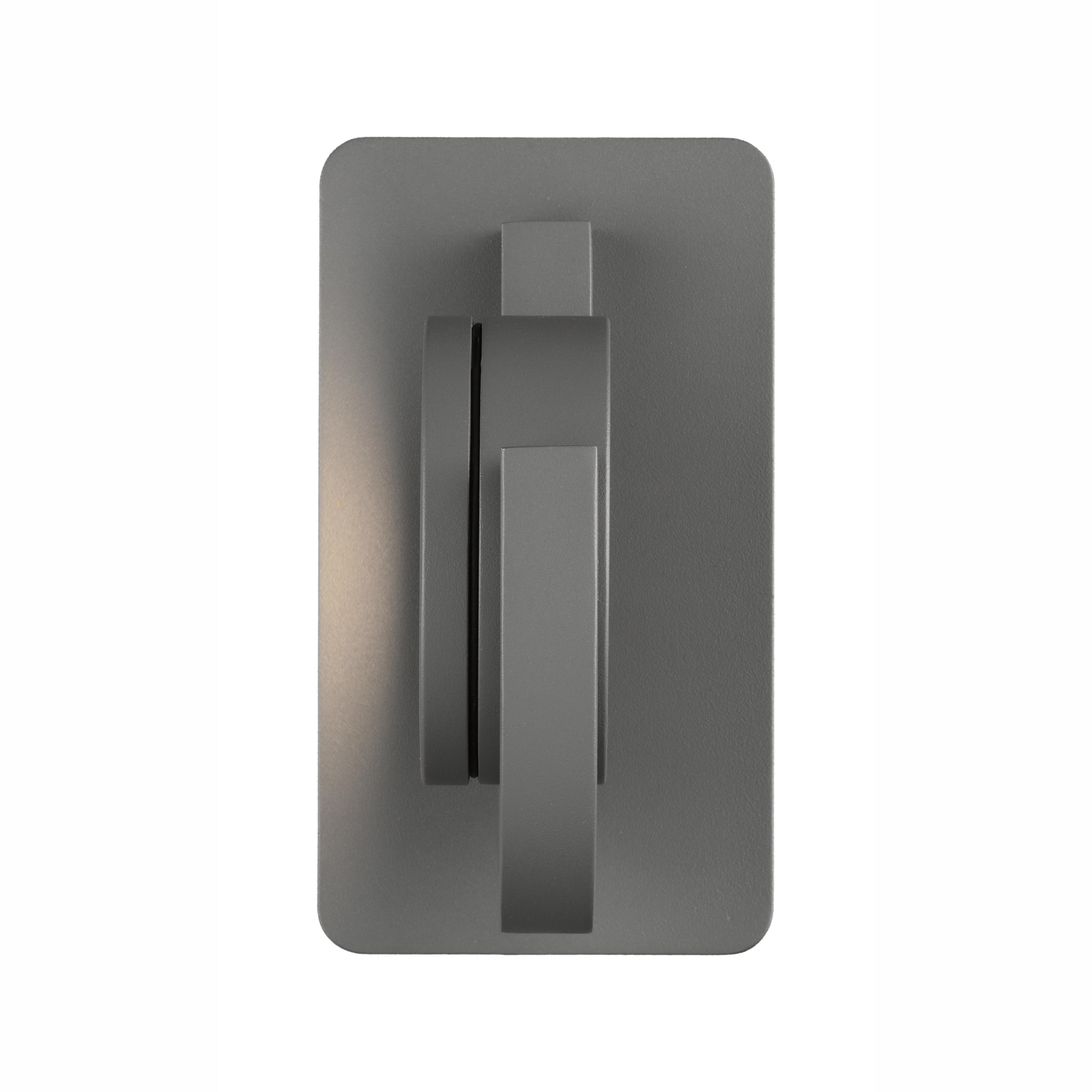 Настенный светильник с регулировкой направления света Mantra Iguazu 6558, IP54, серый, металл, стекло - фото 3