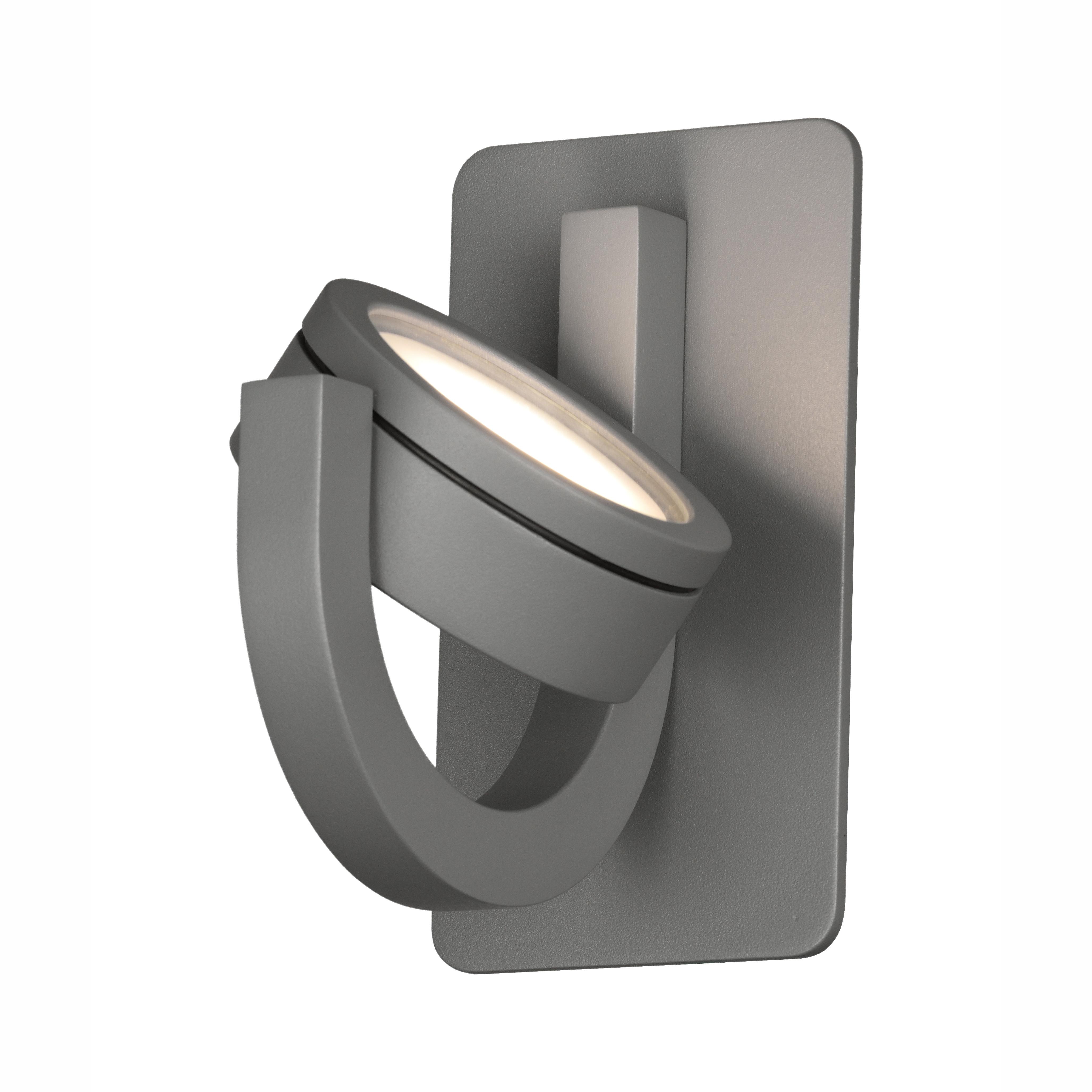 Настенный светильник с регулировкой направления света Mantra Iguazu 6558, IP54, серый, металл, стекло - фото 5