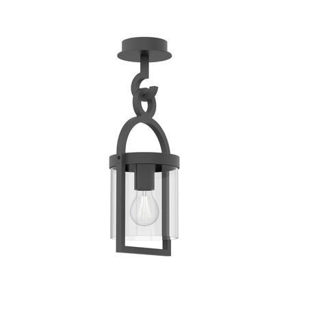 Потолочный светильник Mantra Maya 6553, IP54, серый, прозрачный, металл, стекло