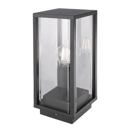 Садовый светильник Mantra Meribel 6490, IP54, серый, прозрачный, металл, стекло