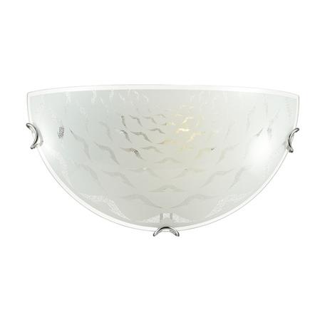 Настенный светильник Sonex Dori 019, 1xE27x60W, хром, матовый, прозрачный, металл, стекло