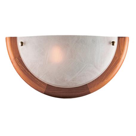 Настенный светильник Sonex Alabastro 027, 1xE27x100W, коричневый, белый, дерево, стекло