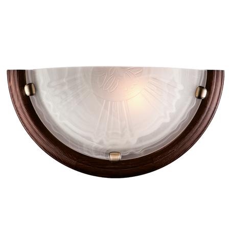 Настенный светильник Sonex Lufe Wood 036, 1xE27x100W, бронза, коричневый, матовый, дерево, стекло