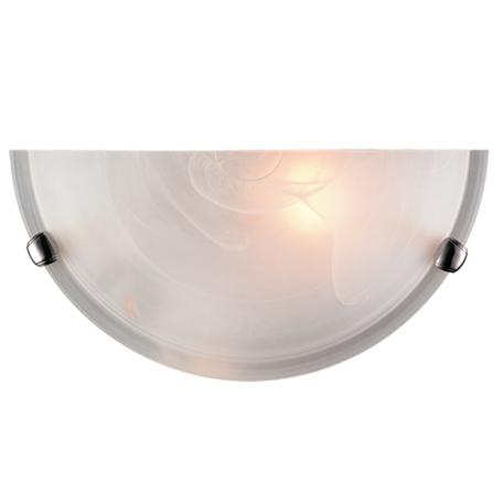 Настенный светильник Sonex Duna 053 хром, 1xE27x100W, хром, белый, металл, стекло