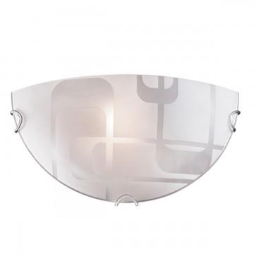 Настенный светильник Sonex Halo 057, 1xE27x100W, хром, матовый, прозрачный, металл, стекло