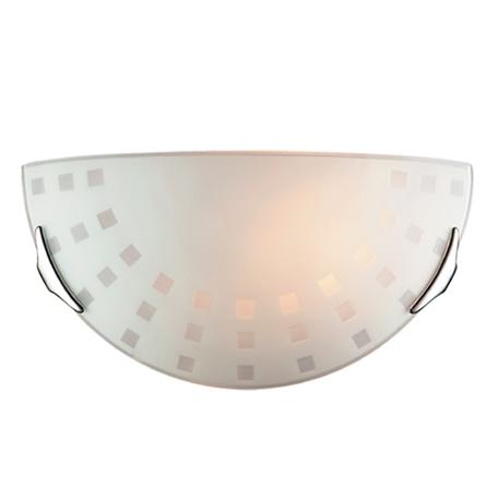 Настенный светильник Sonex Quadro White 062, 1xE27x100W, хром, белый, металл, стекло