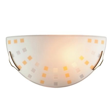 Настенный светильник Sonex Quadro Ambra 063, 1xE27x100W, золото, желтый, металл, стекло