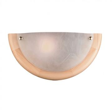 Настенный светильник Sonex Alabastro 072, 1xE27x100W, коричневый, белый, дерево, стекло