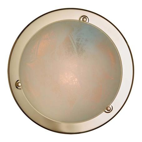 Потолочный светильник Sonex Alabastro 121, 1xE27x100W, золото, белый, металл, стекло