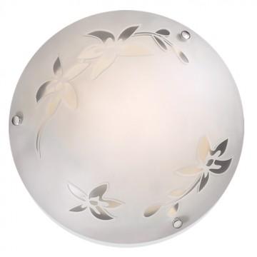 Потолочный светильник Sonex Romana 1214, 1xE27x60W, хром, матовый, прозрачный, металл, стекло