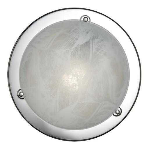 Потолочный светильник Sonex Alabastro 122, 1xE27x100W, хром, белый, металл, стекло - фото 1