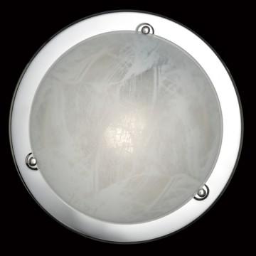 Потолочный светильник Sonex Alabastro 122, 1xE27x100W, хром, белый, металл, стекло - миниатюра 2