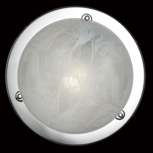 Потолочный светильник Sonex Alabastro 122, 1xE27x100W, хром, белый, металл, стекло - фото 2