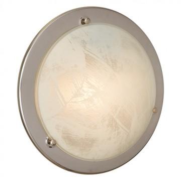Потолочный светильник Sonex Alabastro 122, 1xE27x100W, хром, белый, металл, стекло - миниатюра 3