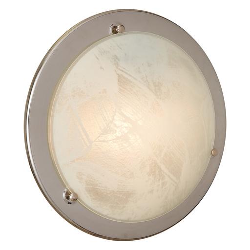 Потолочный светильник Sonex Alabastro 122, 1xE27x100W, хром, белый, металл, стекло - фото 3