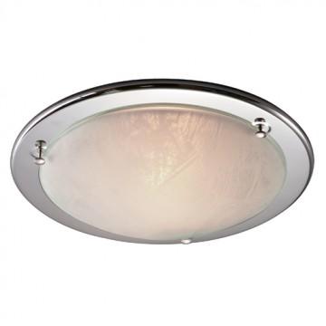 Потолочный светильник Sonex Alabastro 122, 1xE27x100W, хром, белый, металл, стекло - миниатюра 4