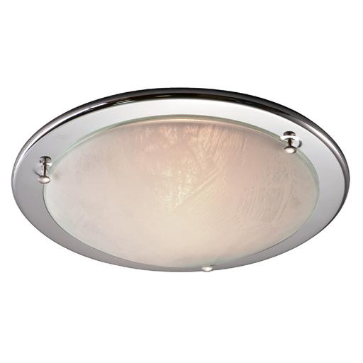 Потолочный светильник Sonex Alabastro 122, 1xE27x100W, хром, белый, металл, стекло - фото 4