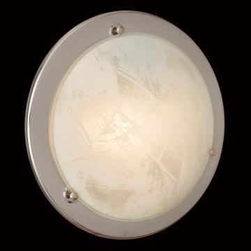 Потолочный светильник Sonex Alabastro 122, 1xE27x100W, хром, белый, металл, стекло - миниатюра 5