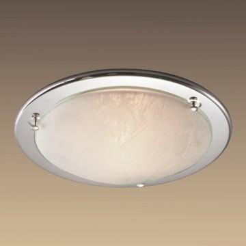 Потолочный светильник Sonex Alabastro 122, 1xE27x100W, хром, белый, металл, стекло - миниатюра 6