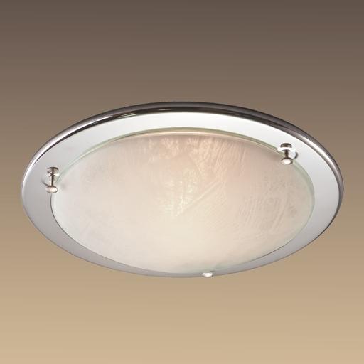Потолочный светильник Sonex Alabastro 122, 1xE27x100W, хром, белый, металл, стекло - фото 6