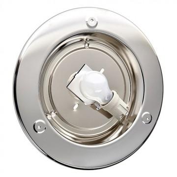 Потолочный светильник Sonex Alabastro 122, 1xE27x100W, хром, белый, металл, стекло - миниатюра 7