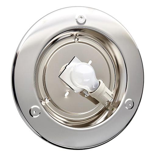 Потолочный светильник Sonex Alabastro 122, 1xE27x100W, хром, белый, металл, стекло - фото 7