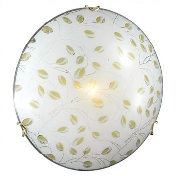 Потолочный светильник Sonex Etra 123/K, 2xE27x60W, золото, желтый, матовый, прозрачный, металл, стекло - миниатюра 3