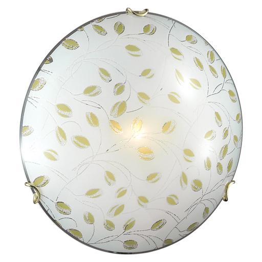 Потолочный светильник Sonex Etra 123/K, 2xE27x60W, золото, желтый, матовый, прозрачный, металл, стекло - фото 3